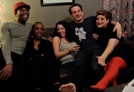 L-R: Kelsey Warren, Mahmouda Yound, Miz Stefani, Travis Trench, The Lady Aye